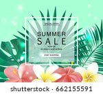 summer sale banner  poster with ... | Shutterstock .eps vector #662155591