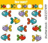 counting educational children... | Shutterstock .eps vector #662157499