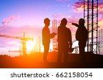 silhouette teams engineer...   Shutterstock . vector #662158054