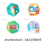 material design icons set for... | Shutterstock .eps vector #662158645