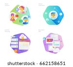 material design icons set for... | Shutterstock .eps vector #662158651