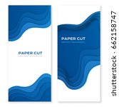 paper cut design concept for... | Shutterstock .eps vector #662158747