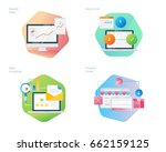 material design icons set for... | Shutterstock .eps vector #662159125