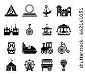 amusement park icons set.... | Shutterstock .eps vector #662161051