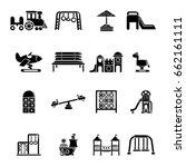 playground equipment icons set. ... | Shutterstock .eps vector #662161111