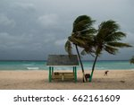 a hurricane is about to batter... | Shutterstock . vector #662161609