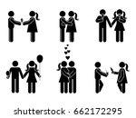 stick figure different romantic ... | Shutterstock . vector #662172295