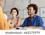 happy african student male... | Shutterstock . vector #662175979