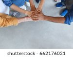 view from above of group of... | Shutterstock . vector #662176021