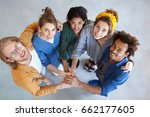 friendly people of different... | Shutterstock . vector #662177605