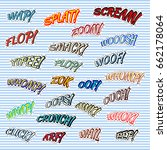 retro comic sound effects for t ...   Shutterstock .eps vector #662178064