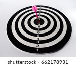 dartboard with dart in the... | Shutterstock . vector #662178931