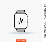 smart watch multifunctionalline ... | Shutterstock .eps vector #662180914