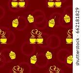 pattern. background texture.... | Shutterstock .eps vector #662181829