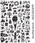 ecology doodles | Shutterstock .eps vector #662182699