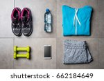 sport clothing and accessories... | Shutterstock . vector #662184649