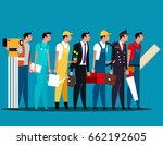 group of people career... | Shutterstock .eps vector #662192605