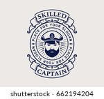 nautical logo with captain icon....   Shutterstock .eps vector #662194204