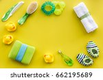 baby accessories for bath with... | Shutterstock . vector #662195689