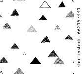 seamless triangles pattern.... | Shutterstock .eps vector #662197441
