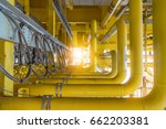 raw gas flow line pipe with... | Shutterstock . vector #662203381