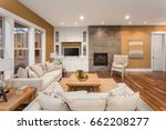 beautiful living room interior... | Shutterstock . vector #662208277