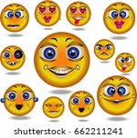 cute ball with emotions | Shutterstock .eps vector #662211241