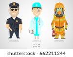 set of characters of... | Shutterstock .eps vector #662211244