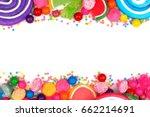 double border of an assortment... | Shutterstock . vector #662214691