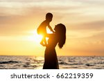 asia  mother and baby on the... | Shutterstock . vector #662219359