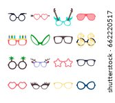party colorful sunglasses icon... | Shutterstock .eps vector #662220517