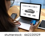 car rental salesman automobile... | Shutterstock . vector #662220529