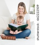 mother sitting on sofa at... | Shutterstock . vector #662222509