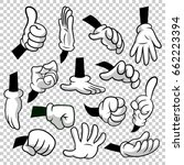 cartoon hands with gloves icon... | Shutterstock .eps vector #662223394