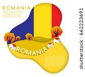 Romania   World Flag In Paper...