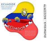 Ecuador   World Flag In Paper...