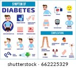 diabetic infographic... | Shutterstock .eps vector #662225329