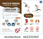 smoking infographic elements.... | Shutterstock .eps vector #662231065