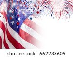 Usa Flag With Firework...