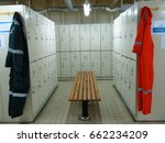 changing and locker room in... | Shutterstock . vector #662234209