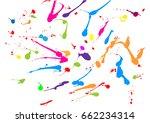 abstract splatter paint color... | Shutterstock .eps vector #662234314