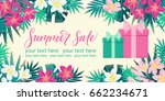 horizontal template with gift... | Shutterstock .eps vector #662234671