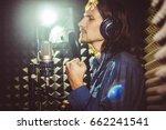 the guy singing in the studio... | Shutterstock . vector #662241541
