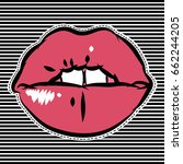 sweet lips. patch for girls.... | Shutterstock .eps vector #662244205