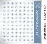 commerce icon set clean vector | Shutterstock .eps vector #662245414