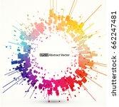 abstract vector background... | Shutterstock .eps vector #662247481