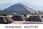 Panorama Of Pyramid Of The Sun. ...