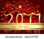 happy new year 2011 background | Shutterstock .eps vector #66225787