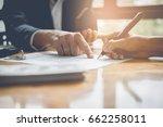 businessman and estate agent... | Shutterstock . vector #662258011