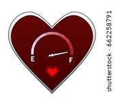love level indicator | Shutterstock . vector #662258791